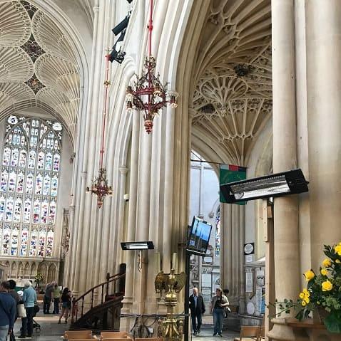Kirchenheizung installiert mit Herschel