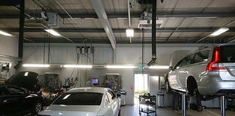 Herschel Heizungsauto Werkstattraum
