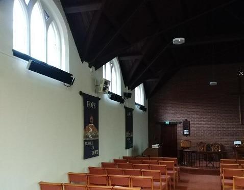 Herschel Summit Heizungen wärmende Kirche