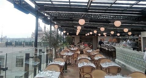 Herschel für die Restaurantheizung in der Bar auf dem Dach