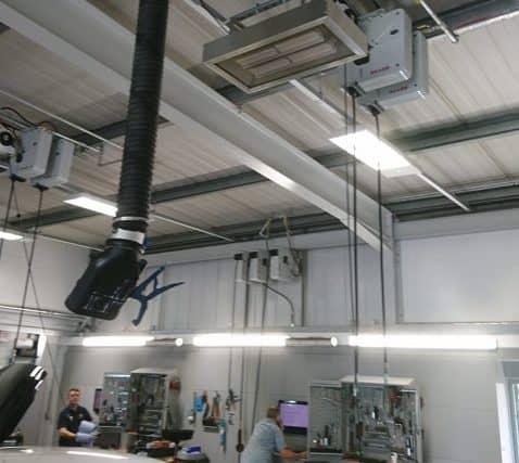 Werkstattheizung bei Snows Volvo