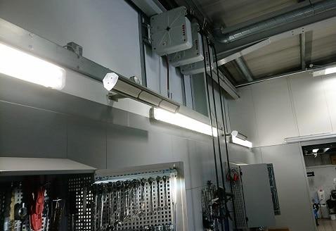 Garagenwerkstatt von Herschel beheizt