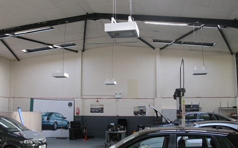Herschel IRP4 bietet die ideale Werkstattheizung