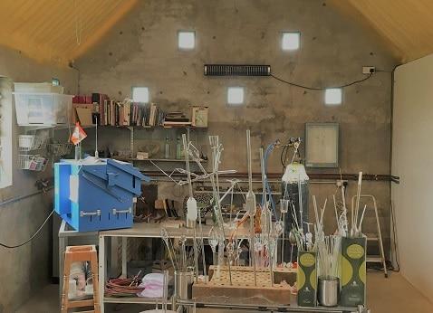 Herschel Aspect XL3 wärmt eine Kaltgaragenwerkstatt